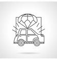Car body insurance line icon vector image