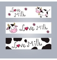 Cartoon cow web banner vector image