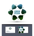Ecology logo sign icon emblem template business vector image