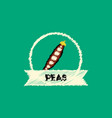 flat icon design collection peas emblem vector image