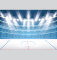 ice hockey stadium with spotlights vector image