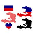 Map of Haiti vector image