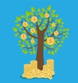 money tree - symbol of successful business vector image