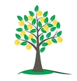 Money tree with golden coins vector image