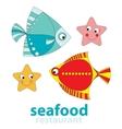 seafood restaurant vector image