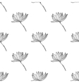 Seamless pattern with flower vector image