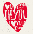 Set of labels for design love vector image