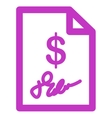 Signed Invoice Icon vector image