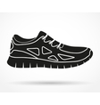 Silhouette symbol of Shoes running and fitness vector image