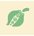 Stylized pea flat icon isolated on vector image