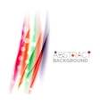 Color wavy lines with light shiny effects vector image vector image