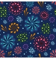 Holiday fireworks seamless pattern background vector image