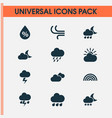 climate icons set collection of nightly weather vector image
