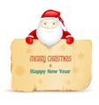 Santa with Merry Christmas message vector image vector image