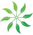 elegant feather emblem design for your business vector image vector image