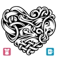 celtic pattern in the shape of heart vector image vector image