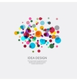 colorful pattern of dots Circular ornament vector image