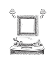 Bathroom interior elements vector image
