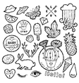 Black and white fashion patch badge elements in vector image