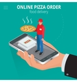 Online pizza Ecommerce concept - order food vector image