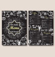 restaurant chalkboard menu design hand vector image