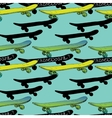 seamless pattern Skateboards with vector image