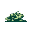 World War Two Battle Tank vector image vector image