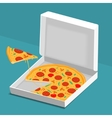 Pizza in the Box vector image vector image