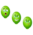 Cartoon Lime Fruit Set 2 vector image vector image