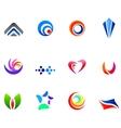 12 colorful symbols set 6 vector image