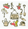 gardening tools objects and equipment vector image