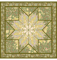 Quilting pattern background design with star motiv vector image vector image