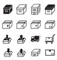 logistic delivery icons symbo vector image