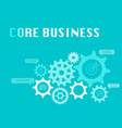 Core business graphic for business concept vector image