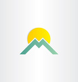 letter m mountain and sun symbol vector image