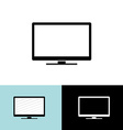 Modern led tv set simple black icon vector image