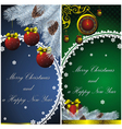 new year card with christmas decor vector image