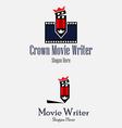 Crown Movie Writer vector image
