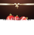 Christmas brown design vector image