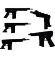firearm silhouette vector image