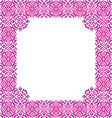Frame with abstract pink and violet patterns vector image
