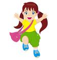 Happy Little Girl vector image