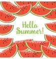Hello Summer Watermelon vector image