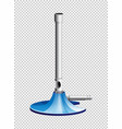 lab burner with blue stand vector image