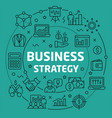 linear business strategy vector image