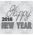PrintHappy new year hand lettering vector image