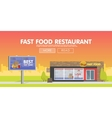 Storefront restaurant selling fast food vector image