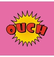 ouch comic pop art style vector image vector image