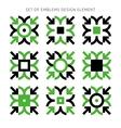 Set of emblems design element-02 vector image vector image