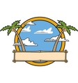 Palm tree tropical vector image vector image